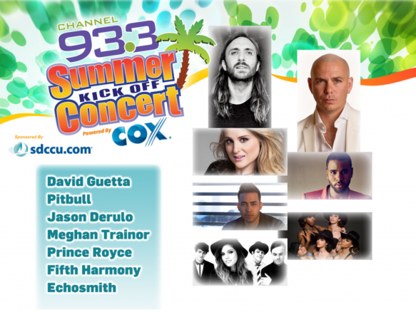 Channel 933 Summer Kickoff: David Guetta, Pitbull, Prince Royce, Meghan Trainor, Fifth Harmony & Echosmith